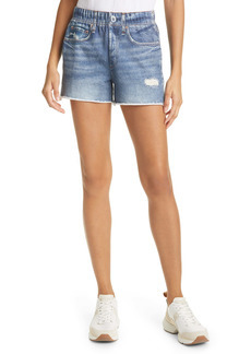 rag & bone Miramar Faux Jeans Knit Shorts
