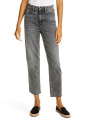 rag & bone Nina High Waist Ankle Cigarette Jeans (Black Sage)