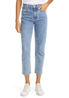 rag & bone Nina High Waist Raw Hem Ankle Cigarette Jeans (Calypso)