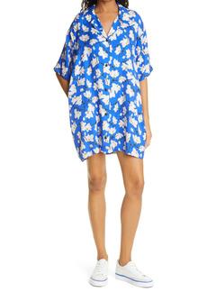 rag & bone Reed Floral Silk Blend Shift Dress