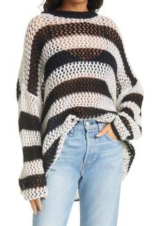 rag & bone Sadie Stripe Oversize Open Knit Sweater