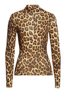 rag & bone Shaw Cheetah Print Turtleneck Sweater
