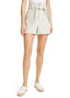 rag & bone Stripe Tie Waist Cargo Shorts
