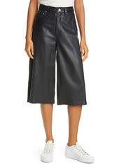 rag & bone Super High Waist Leather Culottes