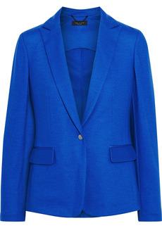 Rag & Bone Woman Lexington Grosgrain-trimmed Wool-jersey Blazer Bright Blue