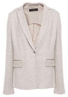 Rag & Bone Woman Lexington Mélange Wool-jersey Blazer Light Gray