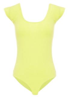 Rag & Bone Woman Nadia Stretch-cotton Jersey Bodysuit Lime Green