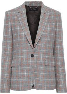 Rag & Bone Woman Rylie Checked Wool-blend Blazer Gray