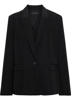 Rag & Bone Woman Rylie Grosgrain-trimmed Wool-blend Blazer Black