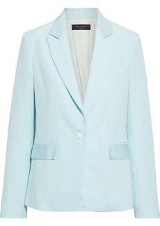 Rag & Bone Woman Rylie Grosgrain-trimmed Wool-blend Blazer Sky Blue