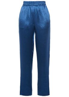Rag & Bone Woman Striped Satin-crepe Track Pants Royal Blue