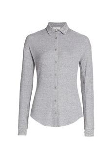 rag & bone The Knit Rib Button-Up Shirt