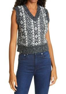 Women's Rag & Bone Maisie Alpaca & Cotton Blend Sweater Vest
