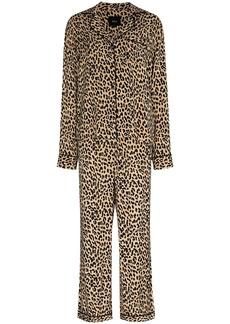 Rails leopard print pajama set
