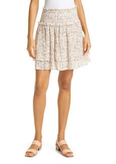 Rails Addison Smocked Floral Miniskirt