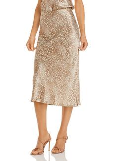 Rails Anya Leopard Print Midi Skirt