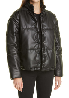 Rails Faux Leather Puffer Jacket