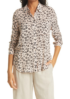 Rails Josephine Floral Animal Print Long Sleeve Button-Up Blouse