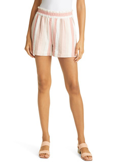 Rails Leighton Smocked Waist Seersucker Shorts