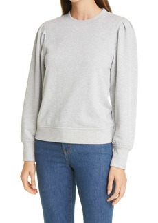 Rails Marcie Puff Sleeve Cotton Blend Sweatshirt