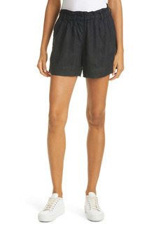 Rails Monty Paperbag Waist Linen Blend Shorts