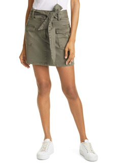 Rails Nola Tie Waist Denim Skirt (Military)