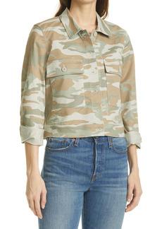 Rails Steffi Camo Print Stretch Cotton Trucker Jacket
