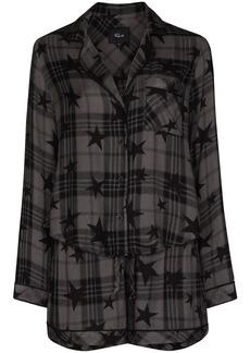 Rails star check print pajama set