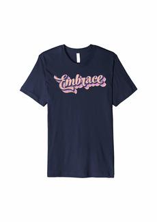 Embrace Bright 70's Style Rainbows Premium T-Shirt
