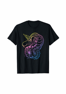 Gradient Rainbow Unicorn Cute for Mom Dad Youth T-Shirt