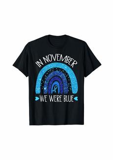 In November We Wear Blue Rainbow Diabetes Awareness Gifts T-Shirt