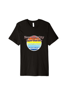 Rainbow New York City Upper West Side USA souvenir NYC United States Premium T-Shirt