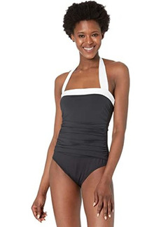 Ralph Lauren Bel Aire Shirred Bandeau One-Piece
