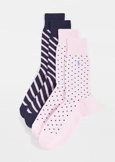 Ralph Lauren Polo Polo Ralph Lauren Dot Slack Socks 2 Pack