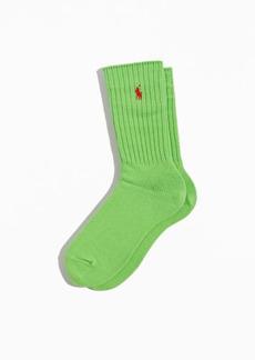 Ralph Lauren Polo Polo Ralph Lauren Ribbed Cotton Crew Sock