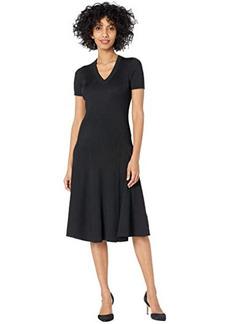 Ralph Lauren Short Sleeve Ribbed Dress
