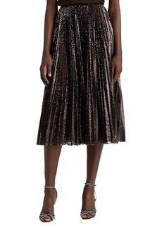 Ralph Lauren Trivelas Pleated Sequin Skirt
