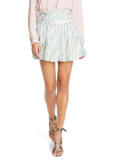 Ramy Brook Fiora Tiered Printed Mini Skirt