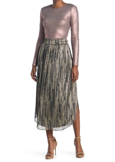 Ramy Brook Lenon Metallic Stripe Maxi Skirt