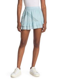 Ramy Brook Linus Cutout Layered Mini Skirt