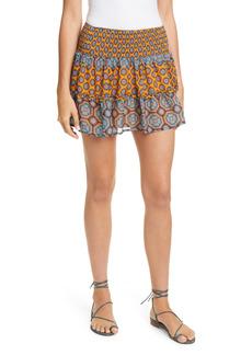 Ramy Brook Livvy Medallion Print Silk Miniskirt