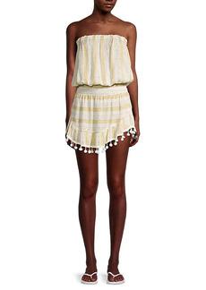 Ramy Brook Marcie Metallic Striped Coverup Dress