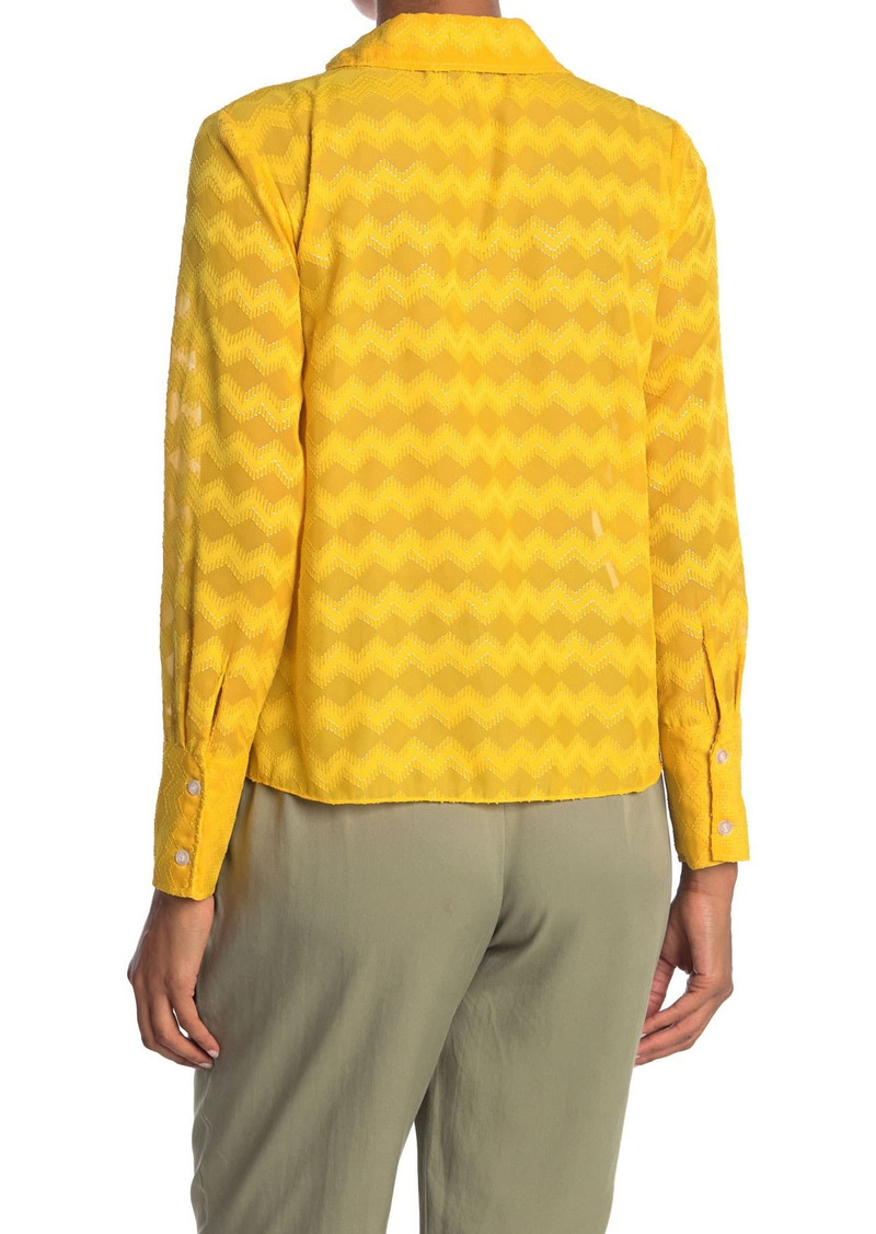 Ramy Brook Mollie Geo Designed Shirt
