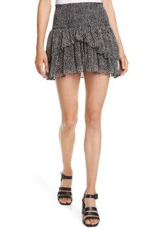 Ramy Brook Printed Daria Silk Skirt