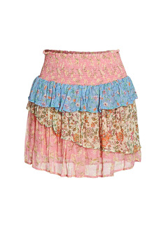 Ramy Brook Printed Paxton Mini Skirt