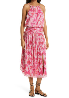 Ramy Brook Alexa Print Sleeveless Drop Waist Dress