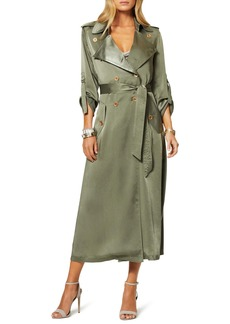 Ramy Brook Aston Satin Trench Coat