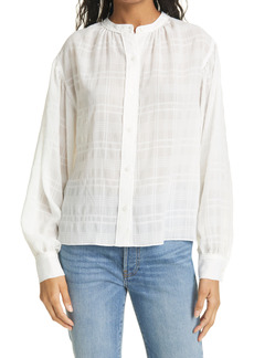 Ramy Brook Berkley Tonal Plaid Blouse