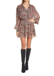 Ramy Brook Blake Print Long Sleeve Minidress