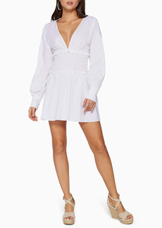 Ramy Brook Blythe Plunge Neck Long Sleeve Dress